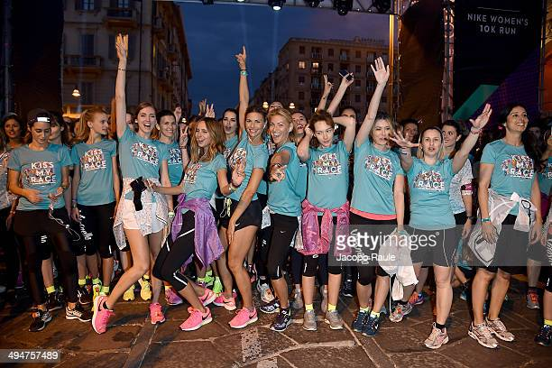 Chiara Ferragni Candela Novembre Martina Colombari Federica Fontana Cristiana Capotondi and Elena Barolo compete in We Own The Night Milan Women's...
