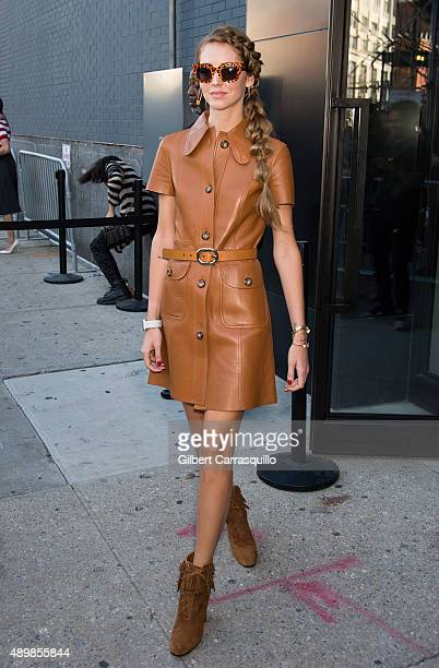 Chiara Ferragni is seen arriving at Michael Kors fashion show during Spring 2016 New York Fashion Weekon September 16 2015 in New York City