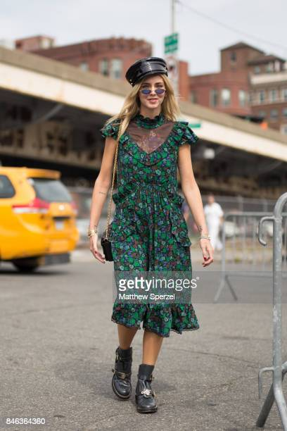 Chiara Ferragni is seen attending Coach during New York Fashion Week wearing Coach on September 12 2017 in New York City