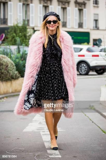Chiara Ferragni is seen before the Giambattista Valli show during Paris Fashion Week Womenswear SS18 on October 2 2017 in Paris France