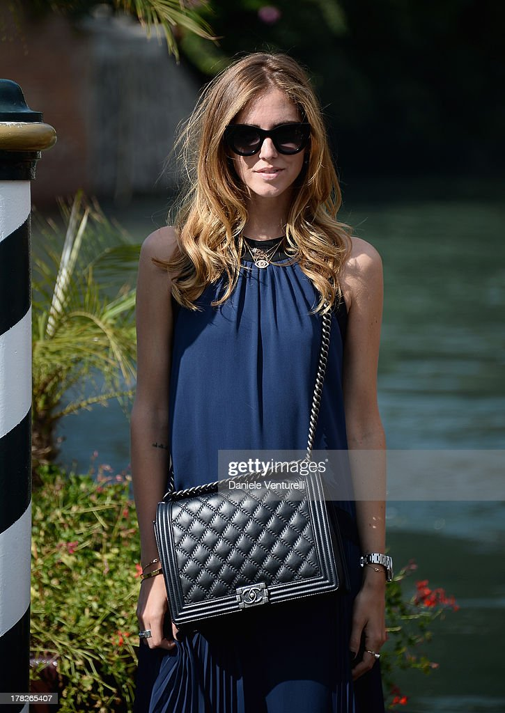 Chiara Ferragni is seen during the 70th Venice International Film Festival on August 28, 2013 in Venice, Italy.