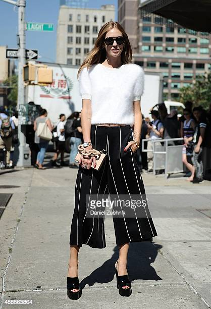 Chiara Ferragni is seen outside the Calvin Klein show during New York Fashion Week 2016 on September 17 2015 in New York City