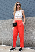Chiara Ferragni is seen outside the Calvin Klein show on September 11 2014 in New York City