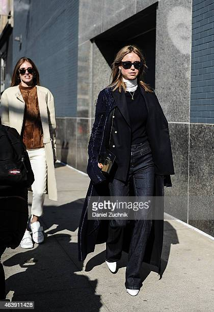 Chiara Ferragni is seen outside the Calvin Klein show wearing all Calvin Klein on February 19 2015 in New York City