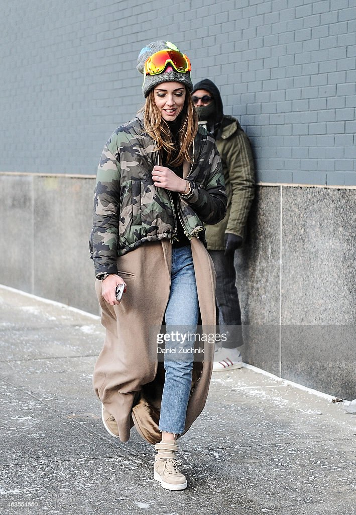Chiara Ferragni is seen outside the DVF show on February 15 2015 in New York City