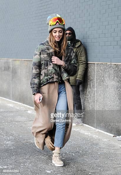 Chiara Ferragni is seen outside the DVF show on February 15 2015 in New York City