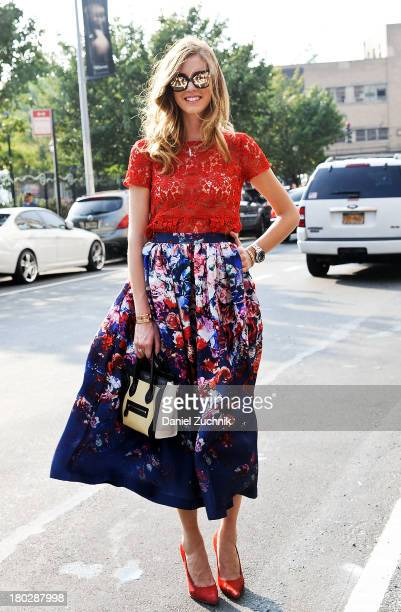 Chiara Ferragni is seen outside the Marc by Marc Jacobs show on September 10 2013 in New York City