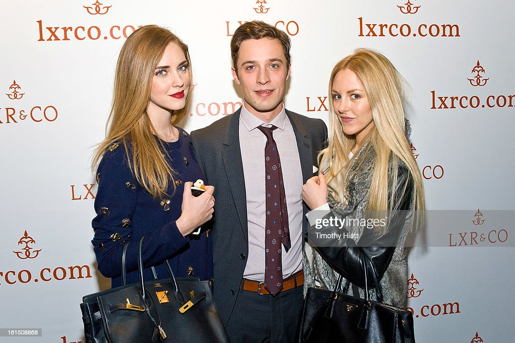 <a gi-track='captionPersonalityLinkClicked' href=/galleries/search?phrase=Chiara+Ferragni&family=editorial&specificpeople=6755910 ng-click='$event.stopPropagation()'>Chiara Ferragni</a>, Jean-Philippe Robert, and Shea Marie attend the LXR & Co E-Commerce Launch At Empire Hotel Hosted By <a gi-track='captionPersonalityLinkClicked' href=/galleries/search?phrase=Chiara+Ferragni&family=editorial&specificpeople=6755910 ng-click='$event.stopPropagation()'>Chiara Ferragni</a> (The Blonde Salad) & Shea Marie (Peace, Love, Shea)>> at Empire Hotel on February 11, 2013 in New York City.