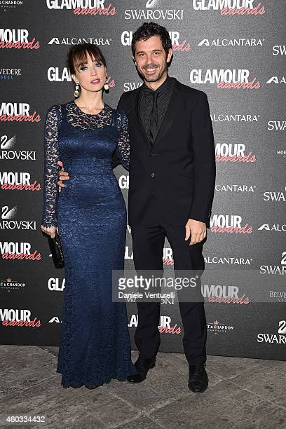 Chiara Francini and Andreas Mercante attend Glamour Awards 2014 on December 11 2014 in Milan Italy