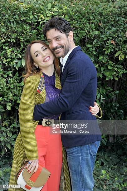 Chiara Francini and Giuseppe Zeno attend a 'Purche' Finisca Bene' Tv Show Presentation on December 12 2016 in Rome Italy