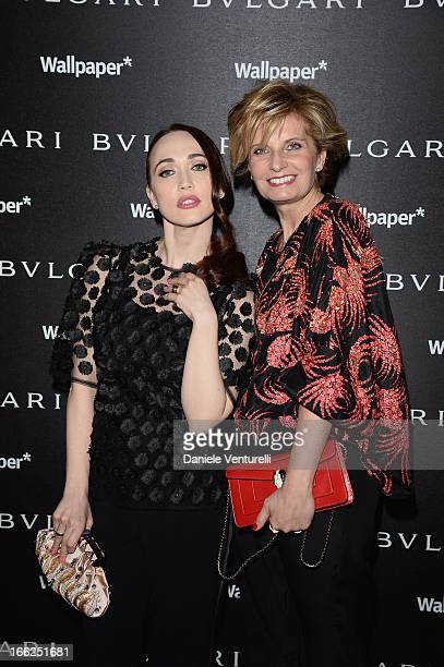 Chiara Francini and Sabina Belli attend Bulgari Bzero1 during Salone del Mobile 2013 at Bulgari Hotel on April 10 2013 in Milan Italy