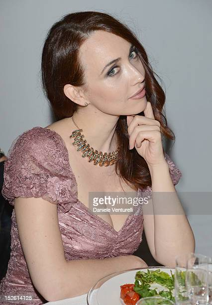 Chiara Francini attends the amfAR Milano 2012 Dinner during Milan Fashion Week at La Permanente on September 22 2012 in Milan Italy