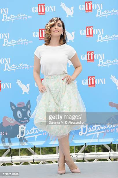 Chiara Francini attends the Giffoni Film Festival photocall on July 21 2016 in Giffoni Valle Piana Italy