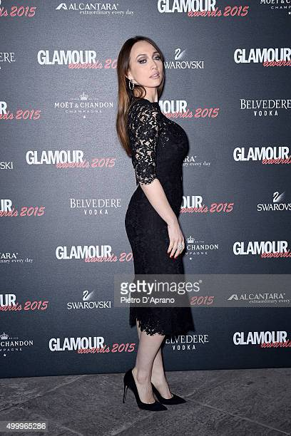 Chiara Francini attends the Glamour Awards 2015 on December 3 2015 in Milan Italy