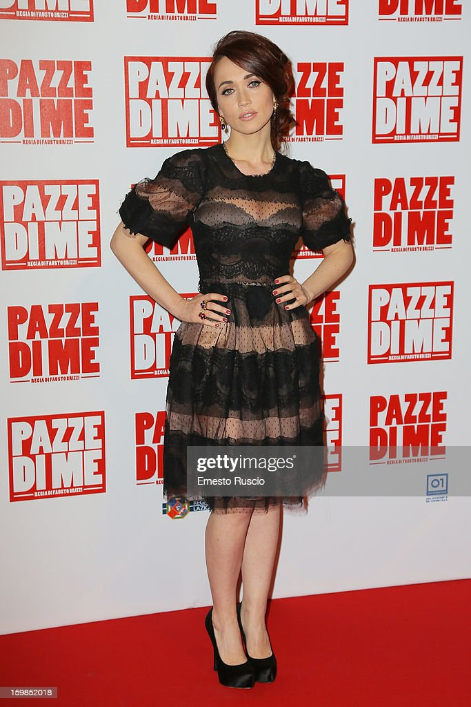 Chiara Francini attends the 'Pazze di Me' premiere at Teatro Sistina on January 21, 2013 in Rome, Italy.