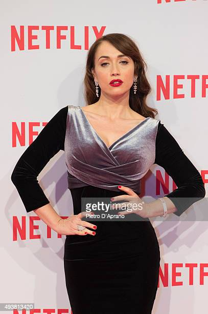 Chiara Francini attends the red carpet for the Netflix launch at Palazzo Del Ghiaccio on October 22 2015 in Milan Italy