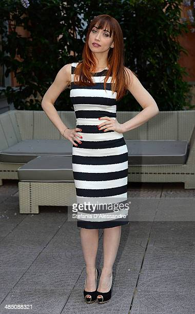 Chiara Francini attends 'Ti Sposo Ma Non Troppo' Photocall on April 16 2014 in Milan Italy