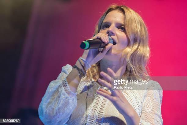 FESTIVAL TREVIOLO BERGAMO ITALY Chiara Galiazzo a famous Italian singer who participated in xfactor and at the festival of Sanremo sings in Treviolo...
