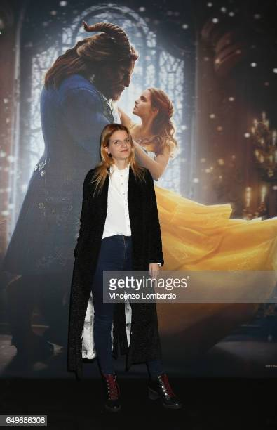 Chiara Galiazzo attends 'La Bella E La Bestia' premiere on March 8 2017 in Milan Italy