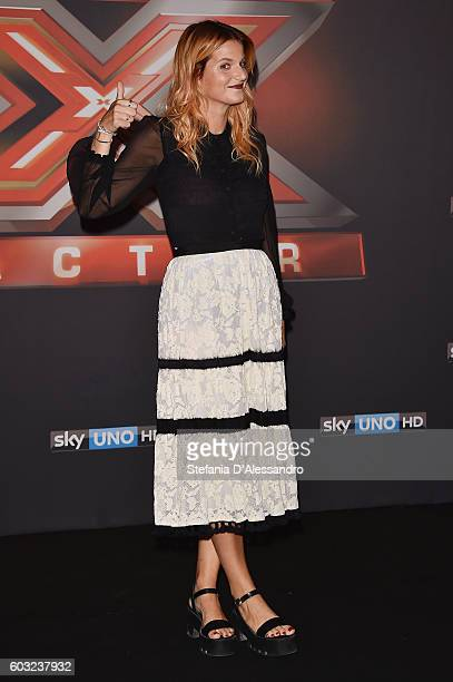 Chiara Galiazzo attends the press conference for 'X Factor X' on September 12 2016 in Milan Italy