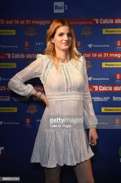 Chiara Galiazzo attends 'Un Goal per l'Italia' Event on May 22 2017 in Norcia Italy