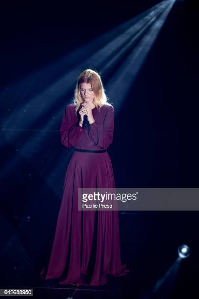 Chiara Galiazzo in the 67th competition of Sanremo Festival in Italy