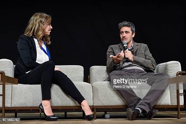 Chiara Maffioletti and Pif attend the 'Italia Digitale' Festival on November 7 2016 in Milan Italy