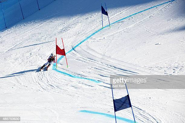 Chiara Mair of Austria competes in the Alpine Giant Slalom FIS Australia New Zealand Cup during the Winter Games NZ at Coronet Peak on August 30 2015...