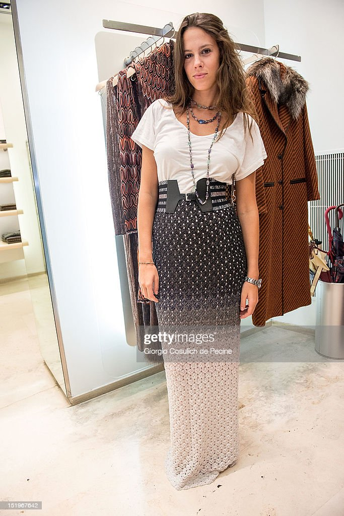Chiara Martegiani poses during Rome Vogue Fashion's Night Out at Missoni shop on September 13, 2012 in Rome, Italy.