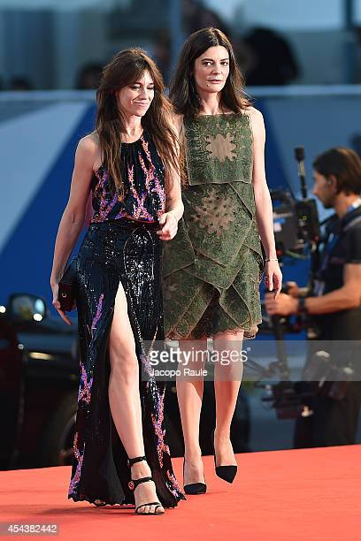 Chiara Mastroianni and Charlotte Gainsbourg attend the '3 Coeurs' premiere during the 71st Venice Film Festival on August 30 2014 in Venice Italy