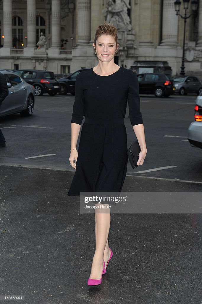 Chiara Mastroianni arrives at 'The Glory Of Water' : Karl Lagerfeld's Exhibition Dinner at Fendi on July 3, 2013 in Paris, France.