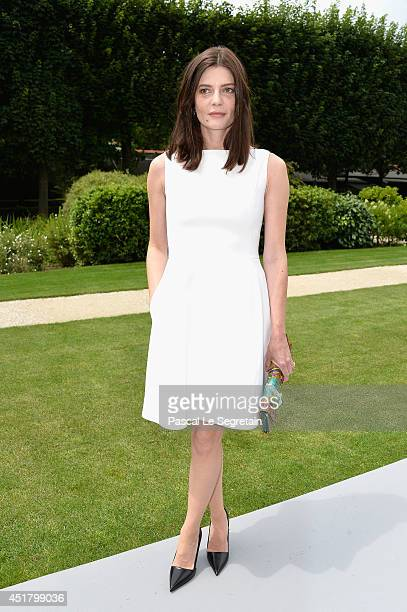 Chiara Mastroianni attends the Christian Dior show as part of Paris Fashion Week Haute Couture Fall/Winter 20142015 on July 7 2014 in Paris France