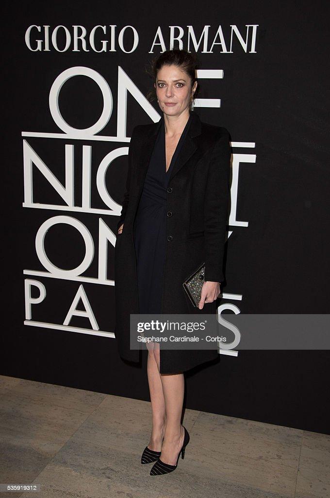 Chiara Mastroianni attends the Giorgio Armani Prive show as part of Paris Fashion Week Haute Couture Spring/Summer 2014, at Palais de tokyo in Paris.