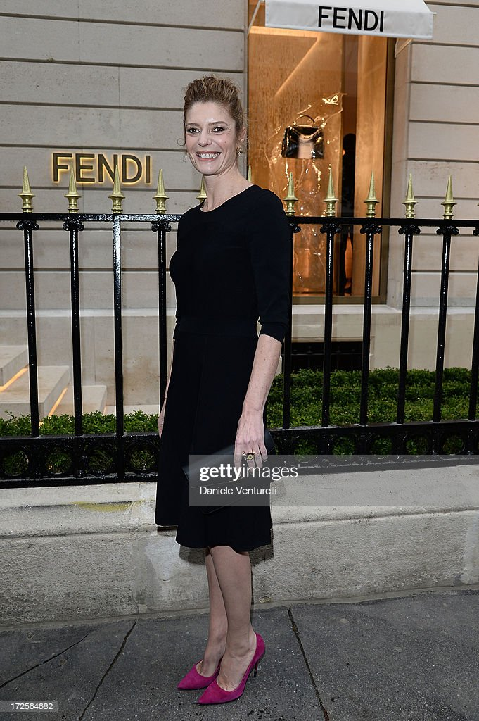 Chiara Mastroianni attends the opening of Fendi's new boutique at 51 Avenue Montaine on July 3, 2013 in Paris, France.