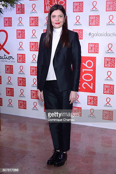 Chiara Mastroianni attends the Sidaction Gala Dinner 2016 as part of Paris Fashion Week on January 28 2016 in Paris France