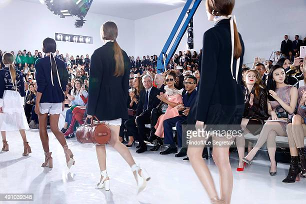 Chiara Mastroianni CEO Dior Sidney Toledano with his wife Katia Toledano Rihanna her Brother and Agathe Bonitzer attend the Christian Dior show as...