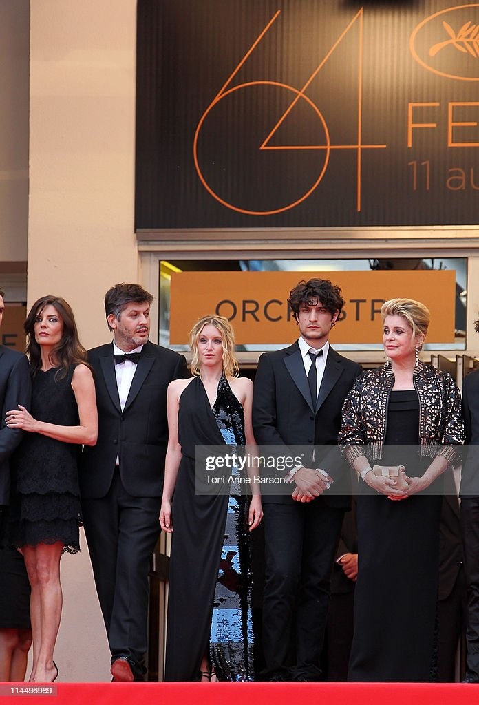 Chiara Mastroianni, director Christophe Honore, Ludivine Sagnier, Louis Garrel and Catherine Deneuve attend the 'Les Bien-Aimes' Premiere and Closing Ceremony during the 64th Annual Cannes Film Festival at the Palais des Festivals on May 22, 2011 in Cannes, France.