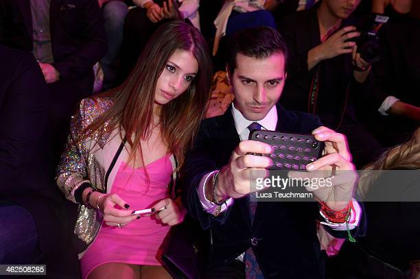 Chiara Nasti and guest attend the Stylight Fashion Blogger Awards at Brandenburg Gate on January 13 2014 in Berlin Germany