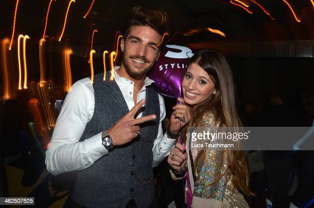 Chiara Nasti and Mariano di Vaio attends the Stylight Fashion Blogger Awards after show party at Prince Charles on January 13 2014 in Berlin Germany