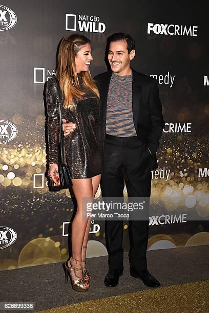 Chiara Nasti and Roberto De Rosa attend Fox Tv schedule presentation on November 30 2016 in Milan Italy