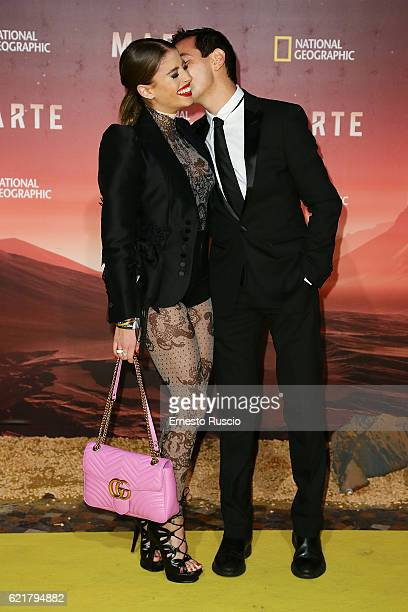 Chiara Nasti and Roberto De Rosa attend the premiere of 'Marte' at The Space Moderno on November 8 2016 in Rome Italy