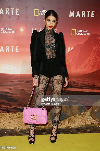 Chiara Nasti attends the premiere of 'Marte' at The Space Moderno on November 8 2016 in Rome Italy