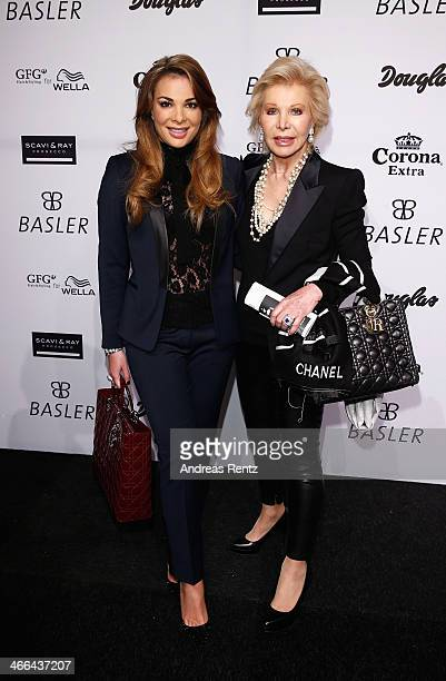 Chiara Ohoven and Ute Ohoven attend the Basler fashion show on February 1 2014 in Dusseldorf Germany