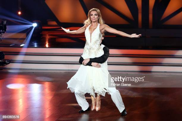 Chiara Ohoven and Vadim Garbuzov perform on stage during the final show of the tenth season of the television competition 'Let's Dance' on June 9...