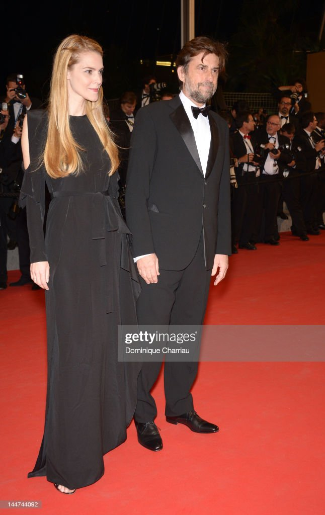 Chiara Palmieri and Jury President Nanni Moretti attend the 'Reality' Premiere during the 65th Annual Cannes Film Festival at Palais des Festivals on May 18, 2012 in Cannes, France.