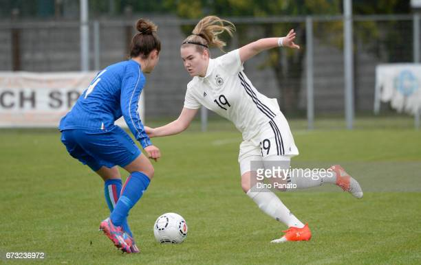 Chiara Pucci of Italy women's U16 competes with laura Haas Germany women's U16 during the 2nd Female Tournament 'Delle Nazioni' match between Germany...