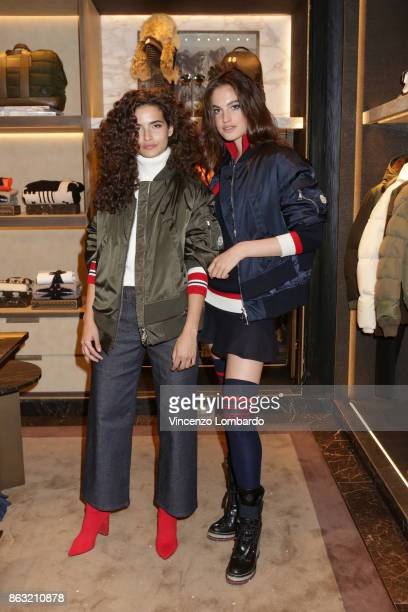 Chiara Scelsi and Matilde Rastelli attend the Moncler Flagship Store Opening Cocktail on October 19 2017 in Milan Italy