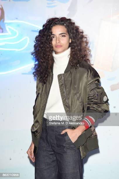 Chiara Scelsi attends the Moncler Flagship Store Opening Cocktail on October 19 2017 in Milan Italy