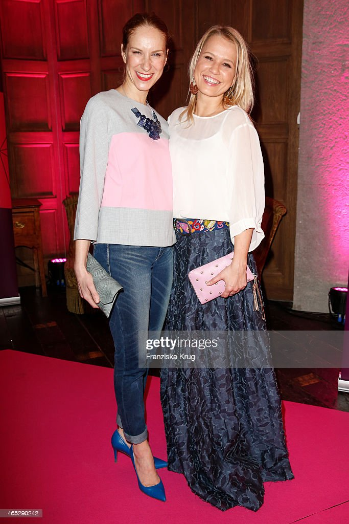 Chiara Schoras and Nova Meierhenrich attend the JT Touristik Celebrates ITB Party on March 05 2015 in Berlin Germany