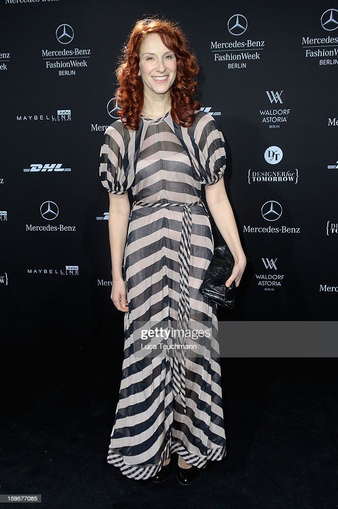 Chiara Schoras attends Lala Berlin Autumn/Winter 2013/14 fashion show during Mercedes-Benz Fashion Week Berlin at Brandenburg Gate on January 16, 2013 in Berlin, Germany.